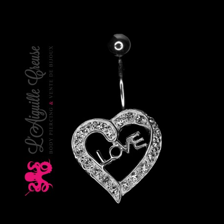 Coeur Love en argent.