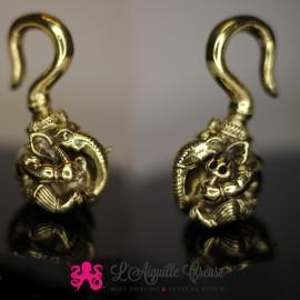 Poid Ganesh en bronze