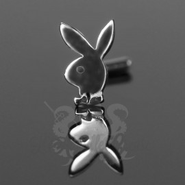 Stud Or blanc 14 carats Playboy