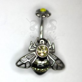 Bijou de nombril Abeille en fonte d'acier