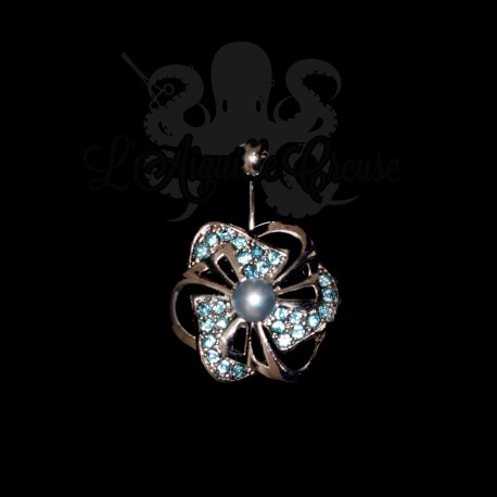 Bijou de nombril Fleur & perle