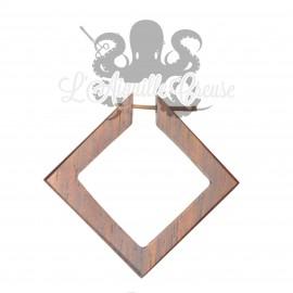 Paire de boucles d'oreilles Losanges en bois