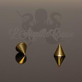 Pique acier anodisé bronze pour bijou en 1.2 mm