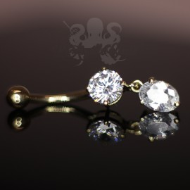 Bijou de nombril en Or 14 carats & zircons