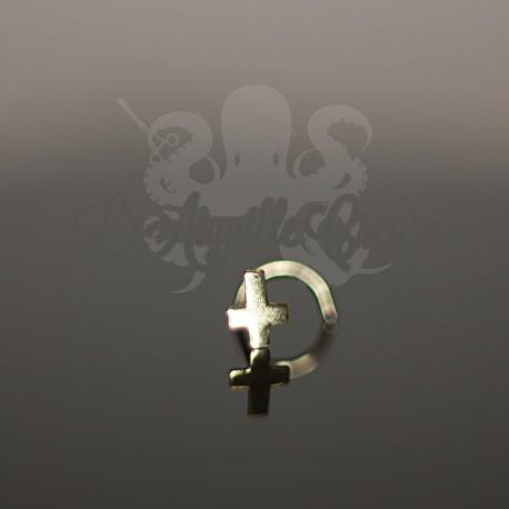 Stud Or 9 carats Croix