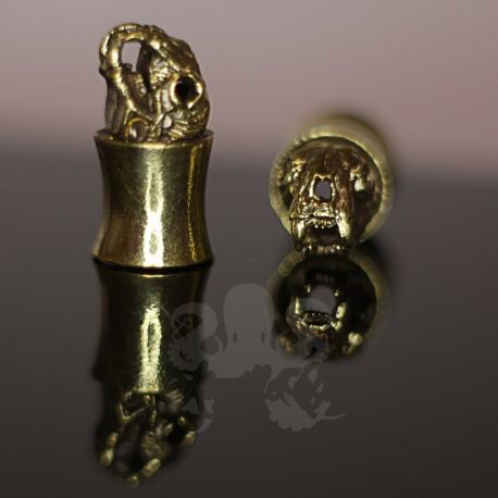 Plug en Bronze crâne d'ours