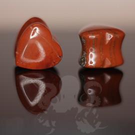 Plug Coeur en Jaspe rouge
