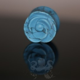 Plug Fleur en turquoise