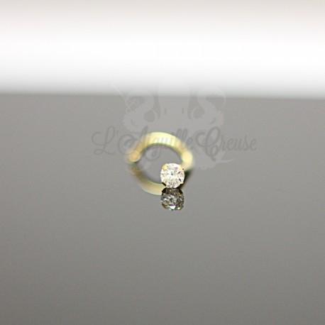 Stud Or jaune 18 carats & Zircon rond de 2.5 mm