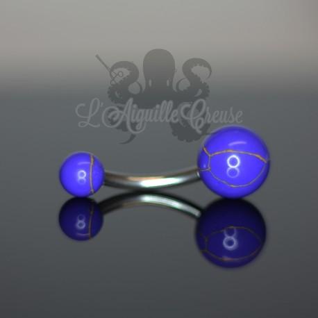 Bijou de nombril en Lapis Lazuli synthétique