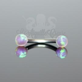 Bijou d'arcade orné d'Opale synthétique