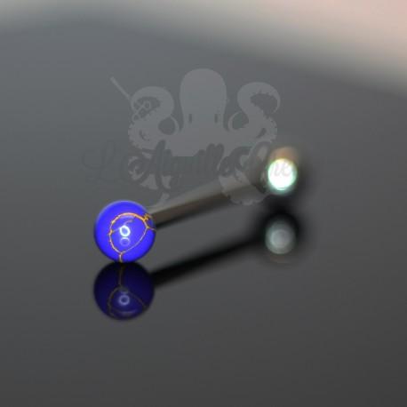 Bijou de Langue en Lapis Lazuli synthétique