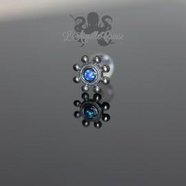 Accessoire Fleur en argent 925 & Opale synthétique