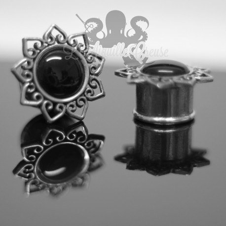 Plug en Bronze blanc & Onyx