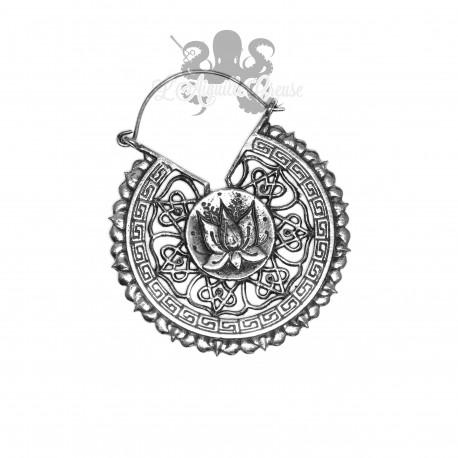 Paire de boucles d'oreilles Lotus en Argent 925