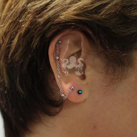 Chaine de cartilage orné de Swarovski