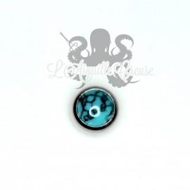 Bille acier & turquoise pour bijou en 1.6 mm.