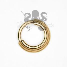 Anneau plaqué or segmenté, ouverture facile