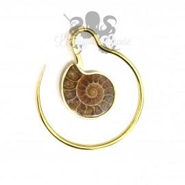 Paire de poids en bronze fossiles d'Ammonites