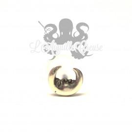Accessoire Lune argent 925 clipable