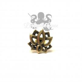 Paire de boucles d'oreilles Nénuphar bronze