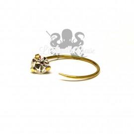 Paire de boucles d'oreilles en bronze / accessoires pour tunnels