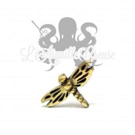 Accessoire en bronze Libellule clipable
