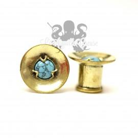 Plug en Bronze et Turquoise