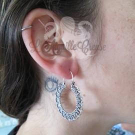 Paire de boucles d'oreilles en Argent 925