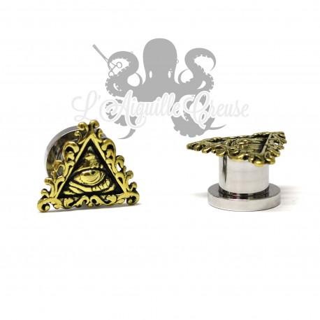 Plug Illuminati en acier chirurgical & bronze