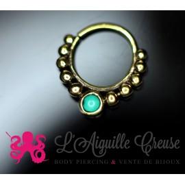 Anneau en bronze et turquoise