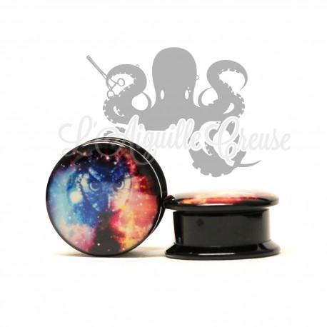 Plug chouette galaxy en acrylique
