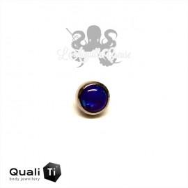 Cabochon d'opale synthétique de 2.5 mm QualiTi en titane - pour 1.2 mm