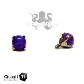 Accessoire QualiTi en titane & opale synthétique de 3 mm , pour 1.2 mm
