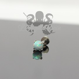 Accessoire QualiTi en titane & opale synthétique de 4 mm , pour 1.2 mm