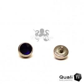 Accessoire QualiTi en zircon bleu cobalt et titane - pour 1.2 mm