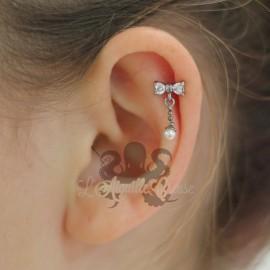 Bijou de cartilage Noeud & perle