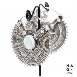 Paire de poids Opale bleu et argent 925 - NAGABodyJewelry