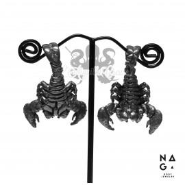 Paire de poids Scorpion en argent 925 - NAGABodyJewelry