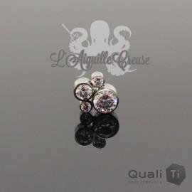 Accessoire QualiTi en titane & zircons - pour 1.6 mm