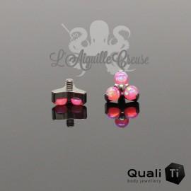 Accessoire QualiTi en titane & trio d'opales synthétiques - pour 1.6 mm