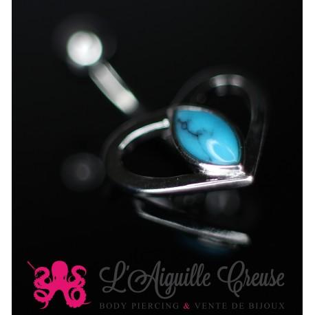 Coeur orné de turquoise