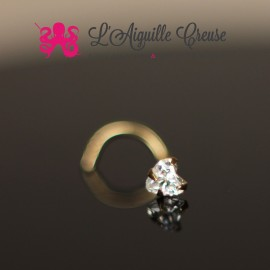 Stud Or & Zircon coeur