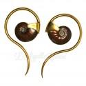 Paire de poids Ammonite & Laiton - Quetzalli