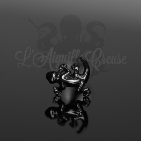 Bijou de cartilage Salamandre anodisé noir