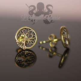 Paire de boucles d'oreilles Yggdrasil en bronze