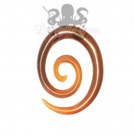 Spirale en corne rouge