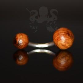 Bijou de nombril en bois de tamarin