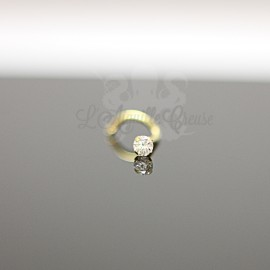 Stud Or jaune 18 carats & Zircon rond de 2.5 mm