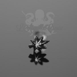 Bijou de cartilage Feuille anodisé noir